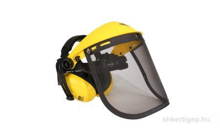 Védőálarc szitaszövésű fülvédővel
